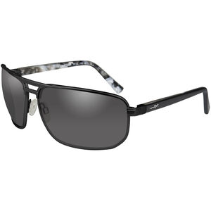 Wiley X Hayden Shooting Glasses Medium/Large Black Frame Smoke Grey Lenses