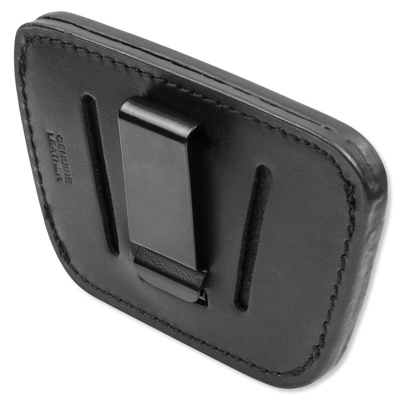 Personal Security Products Belt Slide Holster Medium to Large Frame Autos Leather Black 035B