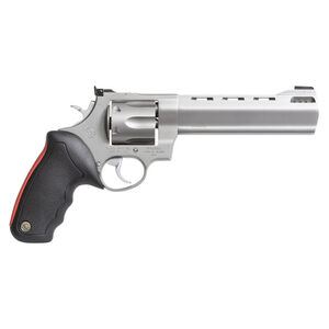 """Taurus Raging Bull 444 Double Action Revolver .44 Magnum 6.5"""" Ported Barrel 6 Rounds Fixed Front Sight/Adjustable Rear Sight Rubber Grip Matte Stainless Steel Finish"""