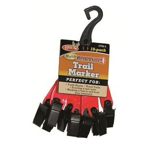 "HME Orange 3"" Reflective Trail Markers 10 Pack"