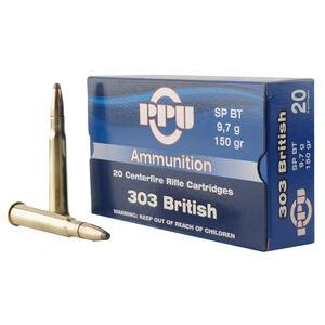 Prvi Partizan PPU .303 British Ammunition 20 Rounds 150 Grain Soft Point Boat Tail 2690fps