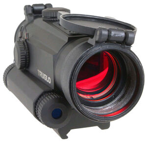 TRUGLO Tru-Tec 30mm Red Dot Sight with Red Laser, 2 MOA Reticle, Matte Black TG8130RN