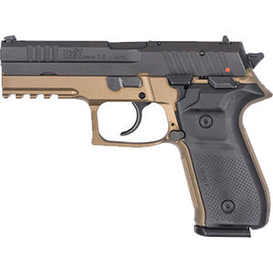 "FIME Group Rex Zero 1S 10S Semi Auto Pistol 9mm Luger 4.3"" Barrel 10 Rounds Metal Frame FDE"