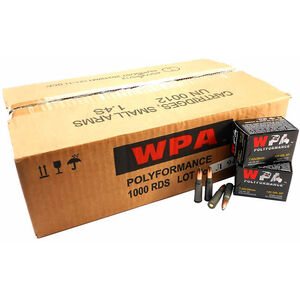 Wolf Performance 7.62x39 Ammunition 1000 Rounds 125 Grain Jacketed Soft Point Bullet Steel Cased 2410fps