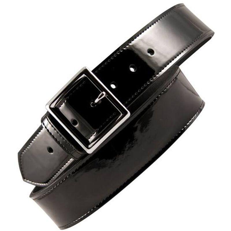 "Boston Leather 6505 Leather Garrison Belt 36"" Nickel Buckle Clarino Leather Black 6505-2-36"