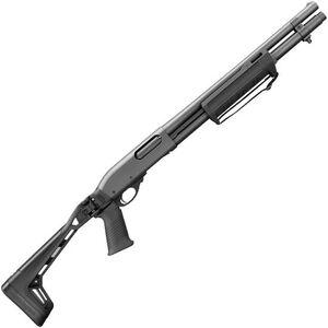 "Remington 870 Side Folder 12 Gauge Pump Action Shotgun 18.5"" Barrel 3"" Chamber 6 Rounds Accepts RemChoke Tubes Pistol Grip Side Folding Stock Matte Black"