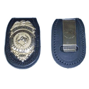 Stallion Leather/Helios Systems Federal Belt Badge Holder Clip Black BHFD-1