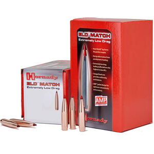Hornady ELD Match Projectiles .338 Caliber 338 Diameter 285 Grain ELD Match Boat Tail 50 Count