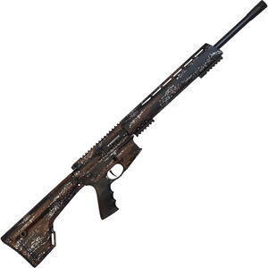 "Brenton USA Ranger Carbon Hunter .450 Bushmaster AR-15 Semi Auto Rifle 22"" Barrel 5 Rounds Free Float Handguard Fixed Stock Harvest Camo Finish"