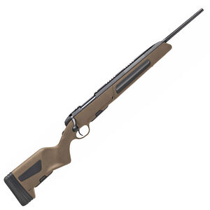 """Steyr Mannlicher Scout 6.5 Creedmoor Bolt Action Rifle 19"""" Blued Barrel 5 Round Detachable Box Magazine Weaver Rail Synthetic Mud Colored Stock"""