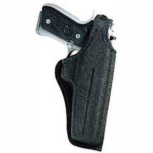"Bianchi #7001 AccuMold Thumbsnap Belt Holster 4"" Barrels Size 4 Right Hand Ballistic Fabric Black"