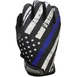 Industrious Handwear Blue Line Flag Full Finger Gloves, Extra Small