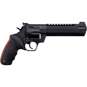 "Taurus Raging Hunter .357 Mag DA/SA Revolver 6.75 "" Ported Barrel 7 Rounds Adjustable Rear Sight Picatinny Top Rail Rubber Grip Matte Black"