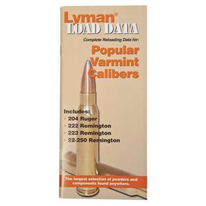 Lyman Load Data Book Rifle .20 and .22 Caliber 9780008