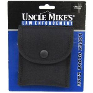 Uncle Mike's Single Latex Glove Pouch Nylon Black