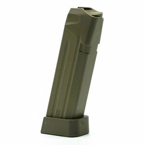 Jagemann Sporting Group GLOCK 19 Compact Size Extended Magazine 9mm Luger 15 Round Capacity Polymer Construction Green Finish