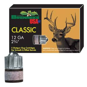 """Brenneke Classic 12 Ga 2.75"""" 1.125 oz Rifled Slug 5 Rounds"""