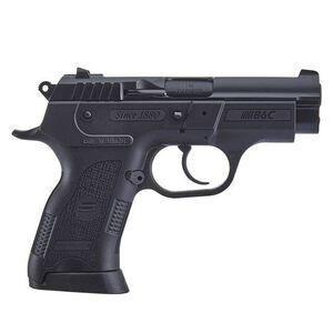 "Sarsilmaz B6C Compact Semi Auto Pistol 9mm Luger 3.8"" Barrel 13 Rounds Fixed Sights Manual Thumb Safety External Hammer Polymer Frame Black Finish"