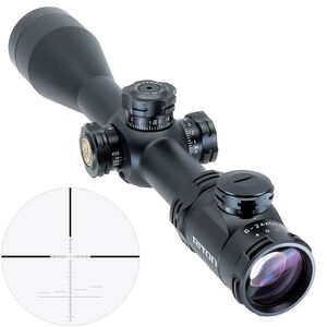 Riton RT-S Mod 5 Gen 2 6-24x50 Riflescope Illuminated Riton Center Crosshair Ranging Reticle 30mm Tube .25 MOA 6061-T6 Aluminum First Focal Plane Adjustable Parallax Matte Black
