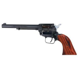 """Heritage Rough Rider Revolver .22 LR and .22 WMR 6.5"""" Barrel Alloy Blue Cocobolo Grips 9 Round Fixed Sights 22999MB6"""