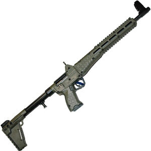 "Kel-Tec SUB-2000 G2 9mm Luger Semi Auto Rifle 16.25"" Barrel 17 Rounds M-Lock Compatible M&P Mags Adjustable Stock OD Green"