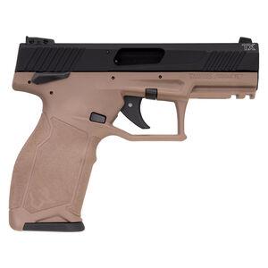 "Taurus TX22 .22 Long Rifle Semi Auto Pistol 4.1"" Barrel 10 Rounds Adjustable Rear Sight PTS Trigger Ergonomic Polymer Frame Black Slide FDE Frame"