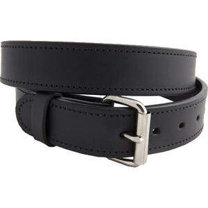 "Versacarry Double Ply 1.5"" Leather Belt Nickel Plated Buckle Size 36 Black 301/42"