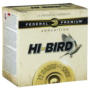 "Federal Premium Hi-Bird 12 Gauge Ammunition 2-3/4"" #7.5 Lead Shot 1-1/4 Ounce 1330 fps"