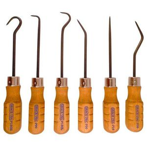Grace USA Hook and Pick Set of 6 Steel Hickory Handles HP-6