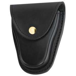 "Gould & Goodrich Handcuff Case Leather Fits 2-1/4"" Belt Brass Snap Black Finish B70BR"
