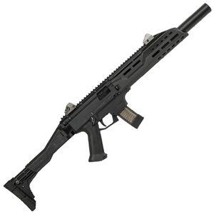 "CZ Scorpion EVO 3 S1 Carbine Semi Auto Rifle 9mm Luger 16.2"" Barrel 10 Rounds Collapsible/Folding Stock Faux Suppressor Polymer Frame Matte Black Finish"