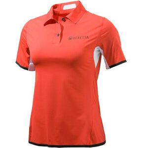 Beretta Women's Tech Shooting Short Sleeve Polo Size XX-Large Poly Mesh/Cotton Twill Red