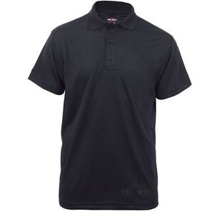 Tru-Spec 24/7 Short Sleeve Performance Polo Poly/Cotton Large Black 4336005