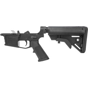 New Frontier C-9 Complete Lower Receiver Assembly 9mm Luger Multi-Caliber Marked Uses GLOCK Style Magazines Billet Aluminum Standard LPK B5 Collapsible Stock Black