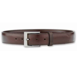 "Galco SB3 Dress Belt 1.5"" Wide Nickel Plated Brass Buckle Leather Size 34 Havana Brown SB3-34H"
