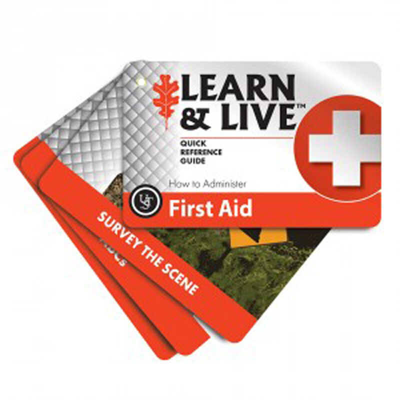 Ultimate Survival Technologies Learn & Live First Aid Card Set 20-02730