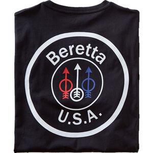 Beretta USA Logo T-Shirt Short Sleeve Cotton Black Large