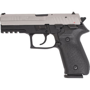"FIME Group Rex Zero 1S Semi Auto Pistol 9mm Luger 4.3"" Barrel 17 Rounds Metal Frame Two Tone Black/Nickel Finish"