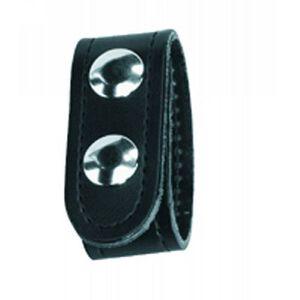 Gould & Goodrich K-Force Double Snap Belt Keepers Hidden Snaps Leather Plain Black 4 Pack