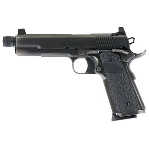 "Dan Wesson Wraith 10mm Auto 1911 Semi Auto Pistol 5.75"" Threaded Barrel 9 Rounds Full Size Government Profile G10 Grips Distressed Duty Finish"