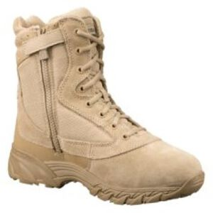 """Original S.W.A.T. Chase 9"""" Tactical Side Zip Boot Nylon/Leather Size 8.5 Wide Tan 20-OS-131202W-85"""