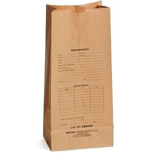 Sirchie Preprinted Kraft 8x18 Evidence Bag Set of 100
