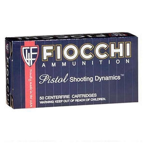 Fiocchi Shooting Dynamics 9x21 IMI Ammunition 50 Rounds 123 Grain Full Metal Jacket Truncated Cone 1230fps