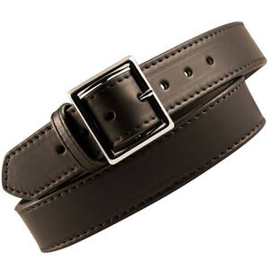 "Boston Leather 6505 Garrison Leather Belt with Lining 46"" Nickel Buckle Plain Leather 6505L-1-46"