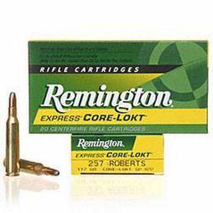 Remington Arms, .257 Roberts Ammunition 20 Rounds, Core-Lokt SP, 117 Grains