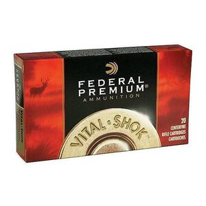 Ammo .270 WSM Federal Vital-Shok 150 Grain Nosler Partition SP Bullet 3100 fps 20 Rounds P270WSMC