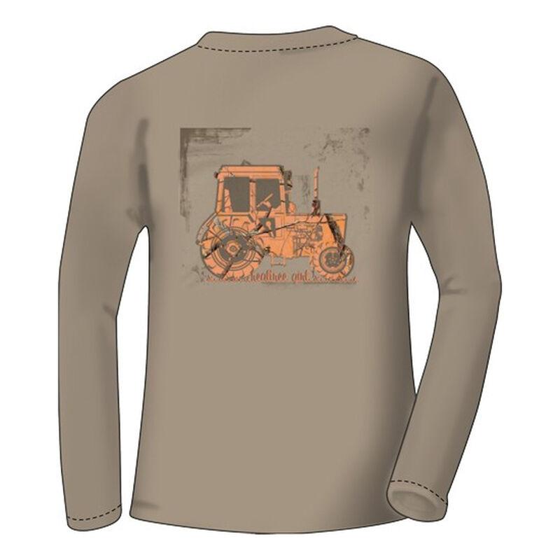 Real Tree Women's Long Sleeve T Shirt Tractor Small Khaki