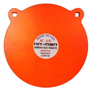 "AR-Mor 10"" AR500 Steel Gong Target 1/2"" Orange"