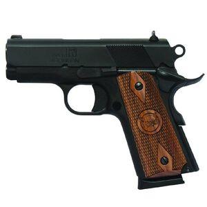 "Iver Johnson 1911 Thrasher Semi Automatic Pistol .45 ACP 3.125"" Barrel 7 Rounds Walnut Grips Blued Finish GIJ13"