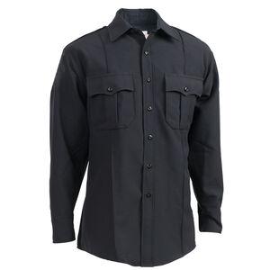 "Elbeco Textrop2 Men's Long Sleeve Shirt Neck 15.5 Sleeve 37"" 100% Polyester Tropical Weave Midnight Navy"
